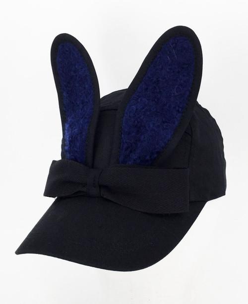 Mohair Bunny Cap - Navy