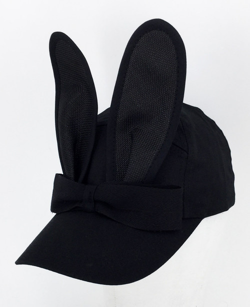 Straw Bunny Cap - Black