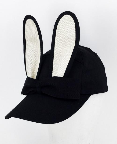 Straw Bunny Cap - Cream