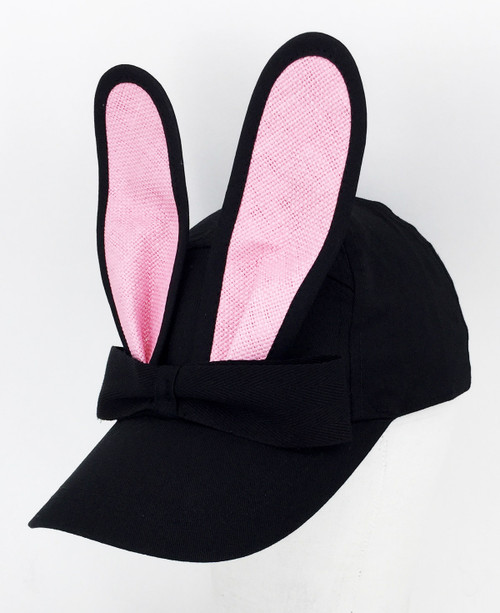 Straw Bunny Cap - Pale Pink