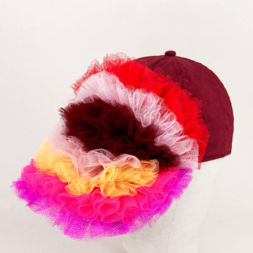 Ruffle Cap - Multi - Coloured