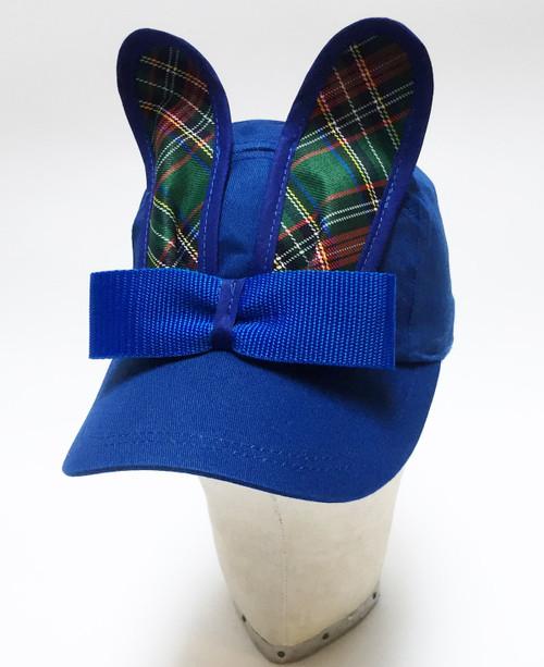 Tartan Bunny Cap - Blue
