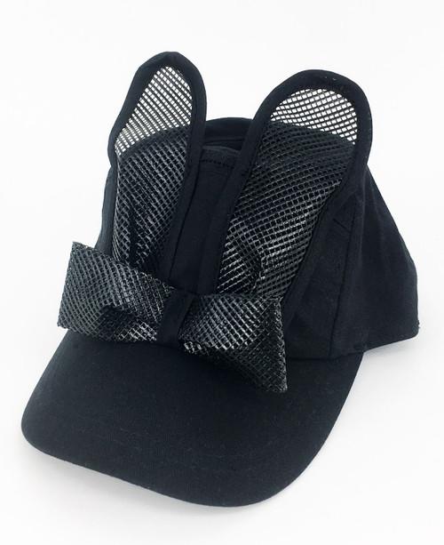 Sport Mesh Bunny Cap - Black