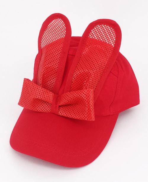 Sport Mesh Bunny Cap - Red