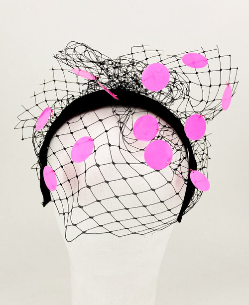 Sequin Veil - Black/Pink
