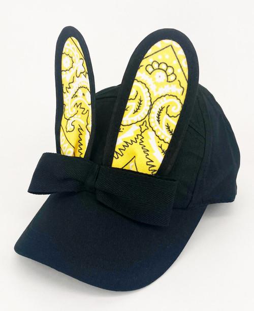 BUNNY BONANZA!                             Bandana Bunny Cap                       Black/Yellow