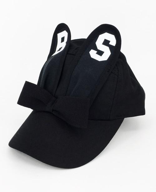 Monogram Bunny Cap - Black/White