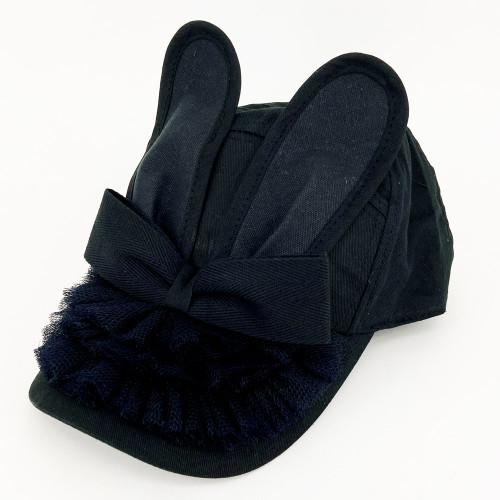 Frill Bunny Cap - Black