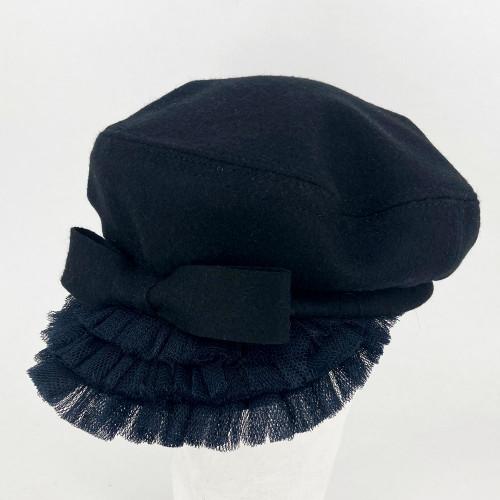 Frill Cap - Black