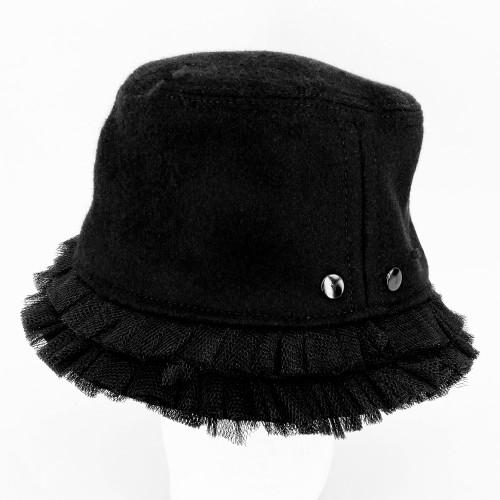 Frill Hat - Black