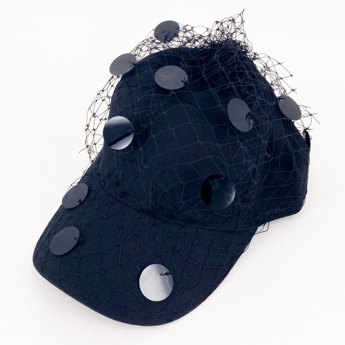 Sequin Cap - Black