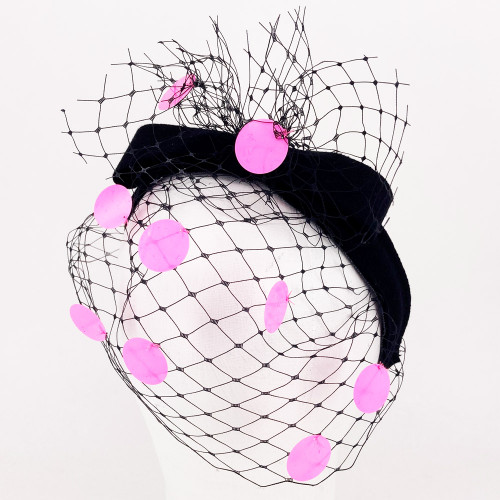 Sequin Band - Black/Pink
