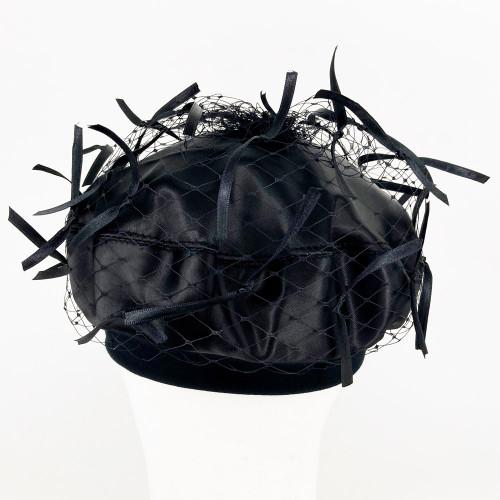 Ribbon Beret - Black