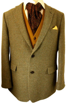"""CHESTER BARRIE GREEN 48"""" COUNTRY RACES WEDDING MENS TWEED JACKET"""