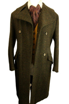 VINTAGE SWALLOW TAILORED SMALL TAILORED DOUBLE BREASTED OVERCOAT *RARE*
