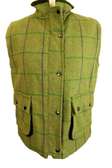 GREENBELT LADIES TWEED SIZE 12 INSULATED SHOOTING HUNTING COUNTRY VEST GILET