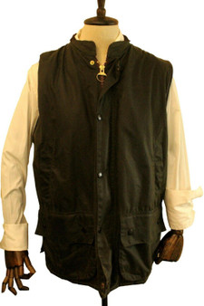 BARBOUR WESTMORELAND A224 GREEN EXLARGE WAISTCOAT WAXED SHOOTING VEST
