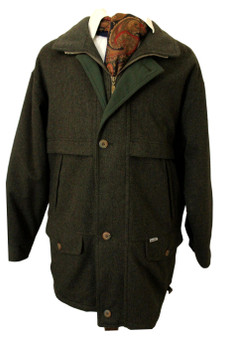 """JUPITER SIZE 50"""" CHARCOAL GREY THICK INSULATED WATERPROOF COAT"""