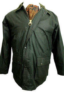 """GREENBELT OLIVE GREEN  INSULATED WAX JACKET SIZE SMALL 38-40"""""""