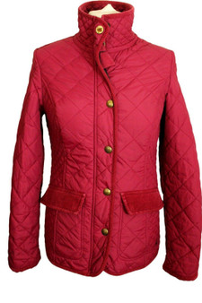JOULES MOREDALE RUBY RED SIZE 8 QUILT JACKET