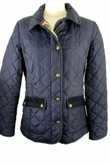 JOULES DIDMARTIN BLUE SIZE 12 QUILT          FLORAL INNER JACKET