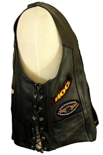 """VINTAGE AMERICAN STYLE BIKERS BLACK PATCHES 46"""" RETRO BIKERS OVERVEST * PATCHES*"""