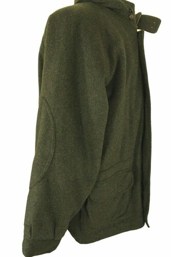 HUCCLECOTE LODEN GREEN 44R THICK INSULATED SHOOTING HUNTING GAMEKEEPERS COAT