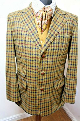 """DAKS SIGNATURE VINTAGE 42"""" MEN'S CHEQ COUNTRY TWEED JACKET DAKS SIGNATURE VINTAGE 42"""" MEN'S CHEQ COUNTRY TWEED JACKET Clearance Sale 79.99 Live for Tweed"""