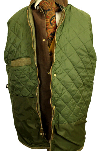 BLUE RIBBON C&A SHOOTING LARGE GREEN THICK TWEED FIELDCOAT