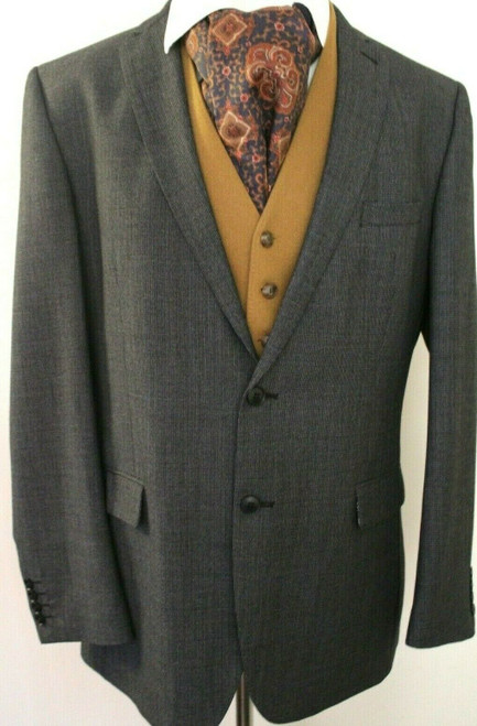"RACING GREEN MENS TWEED SIZE 44"" LONG GREY TAILORED FIT MENS JACKET"