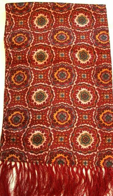 VINTAGE GROSVENOR BY TOOTAL ROUGE PAISLEY GENTLEMAN'S SCARF
