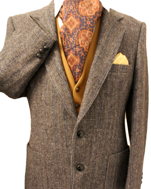 "HARRIS TWEED 40"" GREY TAILORED TWEED JACKET*SHORTARM*"