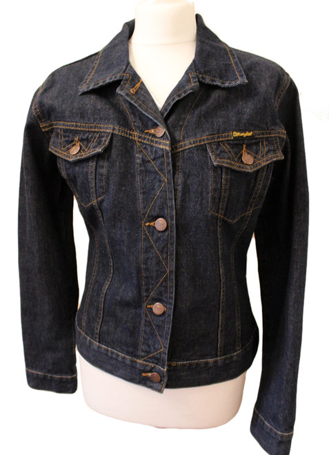 VINTAGE WRANGLER LADIES SMALL BLUE DENIM JACKET