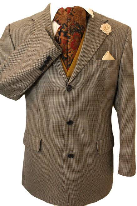"TOMMY HILFIGER 42"" SHORT HOUNDSTOOTH MENS TWEED JACKET"