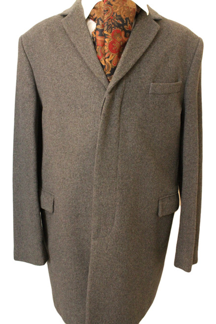 FRENCH CONNECTION 44R MENS GREY OVERCOAT