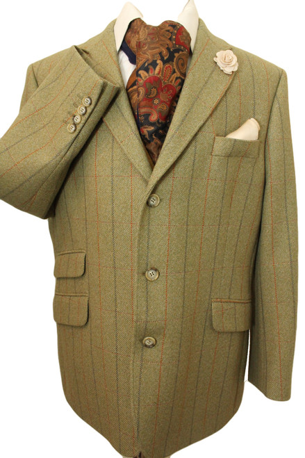 "BROOK TAVERNER 44"" SHORT GREEN THICK WOOL HIGH QUALITY TWEED JACKET"