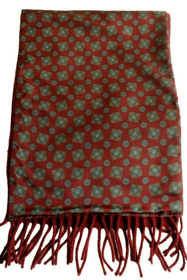 VINTAGE SAMMY REVERSABLE ROUGE LAMBSWOOL BACKED SCARF