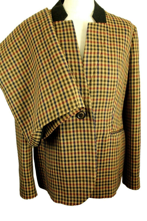 VINTAGE AUSTIN REED CHECK SUIT JACKET SIZE 14 WITH FREE SIZE 14 SKIRT