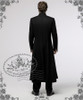 Medieval Priest Elegant Gothic Aristocrat Large Cross Wool Coat Long Trench/ Frock Coat for Man