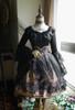 Lolita A Line Skirt Summer Gauze Black Skirt Overskirt
