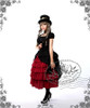Model Show (Black Ver.) (hat: P00587, choker: AD00581, fan: P00580, skirt: SP00166, leggings: P00182)