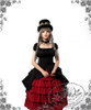 Model Show (Black Ver.) (hat: P00587, choker: AD00581, fan: P00580, skirt: SP00166)