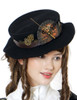 Beyond the End of Time, Steampunk Gear Wheel Decorated Woolen Flat Hat*2colors
