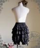 Lolita Elastic Waistband Bustle Bloomers Summer Shorts White Black