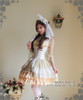 Model Show (Ivory + Gold Ivory Mixed Lace Ver.) (hair dress: P00607, corset: Y00025N, fan: P00580, pannier bloomers: UN00024, birdcage petticoat: UN00003N, leggings: P00187)