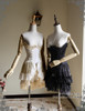 Lolita Underbust Corset Top Skirt Steel Boned Ivory Black