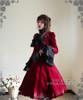 Model Show (Burgundy Ver.) (blouse: TP00086N, fan: P00580, skirt: SP00119N, petticoat: UN00022)