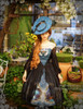 Model Show (Misty Blue + Black Ver.) (hat: P00609, birdcage petticoat: UN00019)