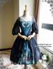 Front View (Misty Blue + Black Ver.) (birdcage petticoat: UN00019)