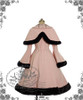 Princess Necklace  Hime Lolita,Flocking Collar Thick Wool Coat&Capelet